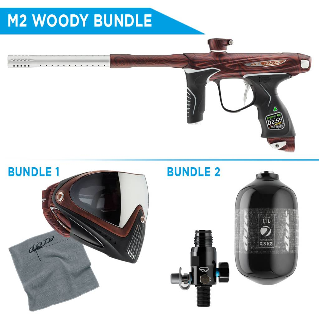 PAINTBALL MARQUEUR – DYE M2 WOODY BUNDLE