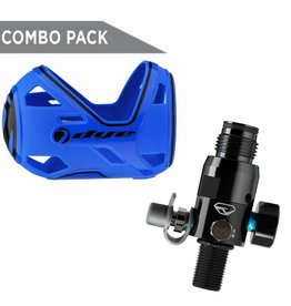 BOTTLE COVER DYE FLEX S/M BLAU + PROTO THROTTLE REGULATOR 300 BAR