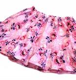 Bunter Minirock / Mädchenrock, Blumen, rosa, 92-104 (2-4 Jahre)