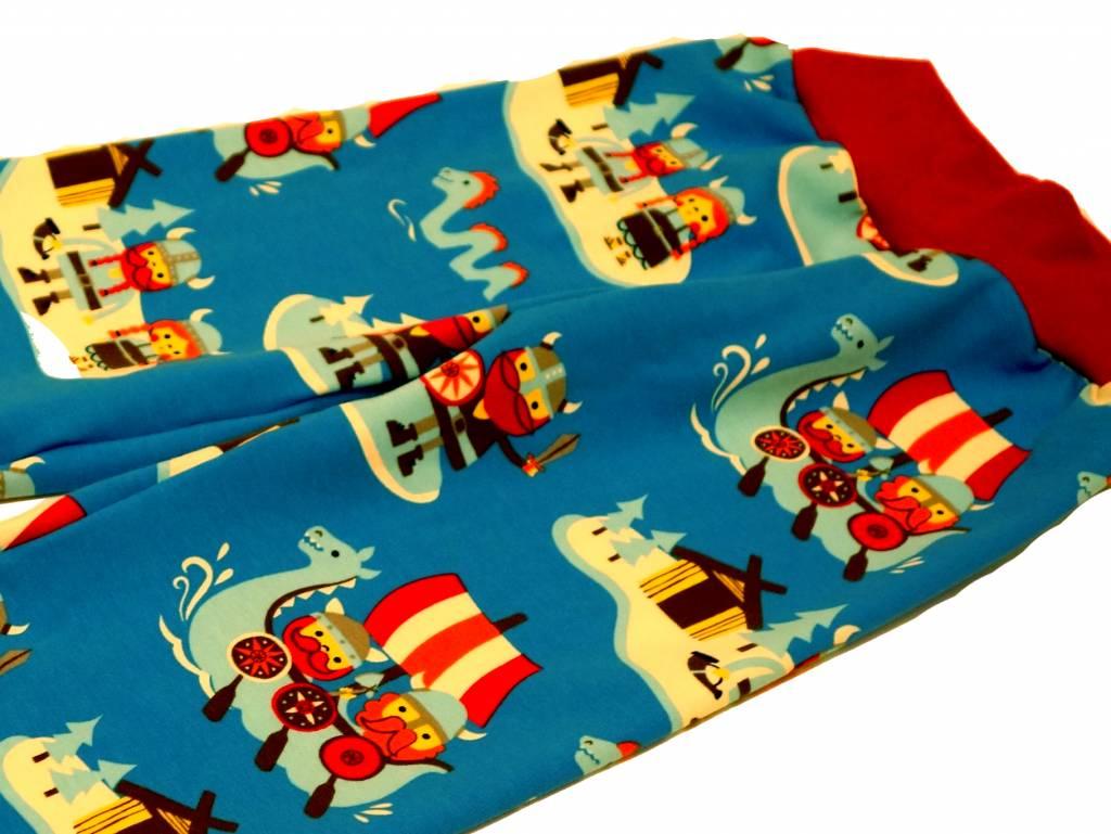 Bunte Kinderhose Wikinger, blau, Gr. 74, 80, 86, 92, 98, 104