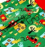 Bunte Kinderhose Feuerwehr, grün, Gr. 74, 80, 86, 92, 98, 104