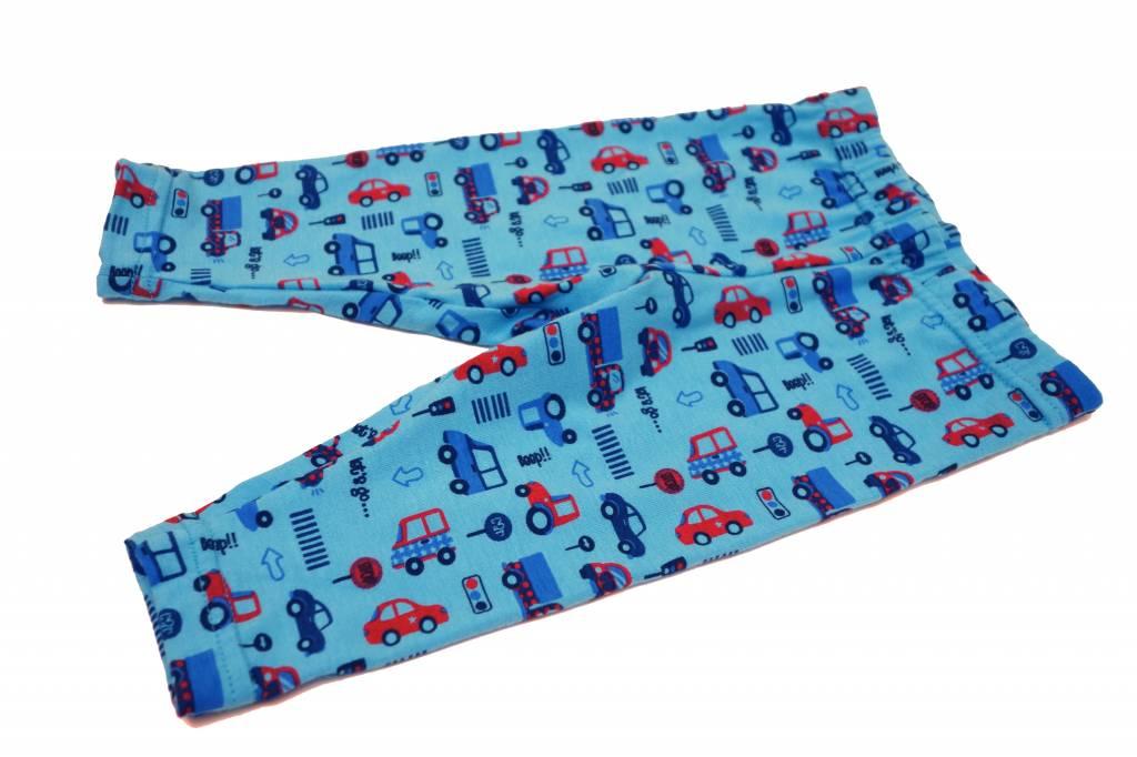 Bunte Baby Leggings Autos, blau, Gr. 62, 68, 74