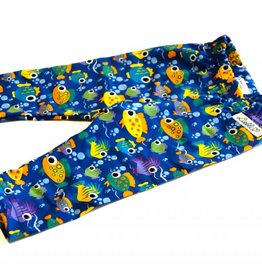 Baby Leggings, Fische auf blau, Gr. 50, 62, 74, 80