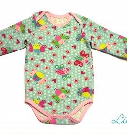 Baby Body, Süße Schmetterlinge auf hellmint, Gr. 56, 62, 68, 74, 80