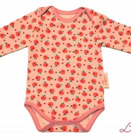 Baby Body, kleine Äpfel auf rosa, Gr. 56, 62, 68, 74, 80