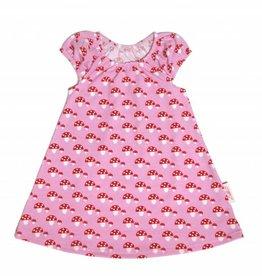 Tunika Kleid Fliegenpilze auf rosa