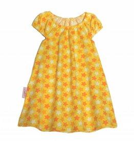 Tunika Kleid Sterne, gelb-orange