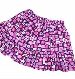 Minirock / Mädchenrock, retro Kästchen, lila-pink-rosa, 92-104 (2-4 Jahre)