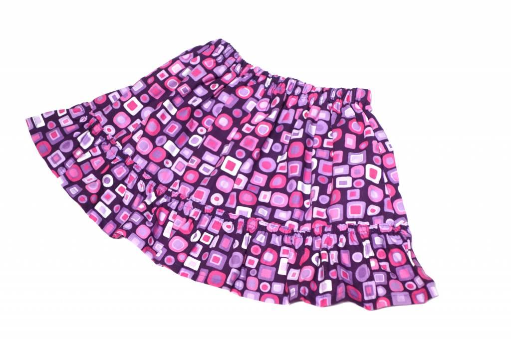 Bunter Minirock / Mädchenrock, retro Kästchen, lila-pink-rosa, 92-104 (2-4 Jahre)