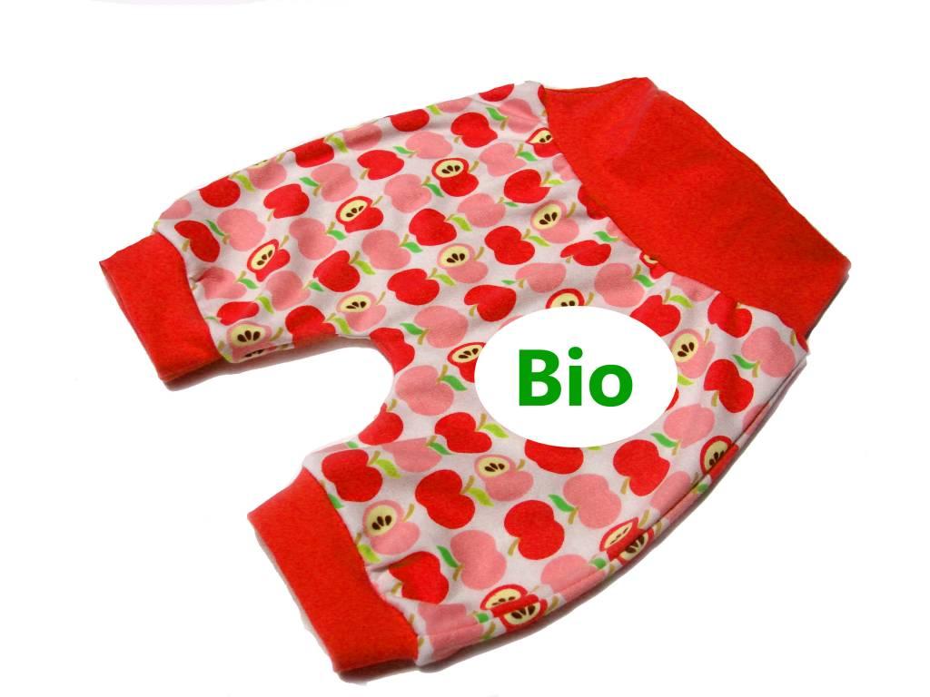 BIO Bunte Babyhose / Pumphose, Apfel, rot, 56, 62, 68