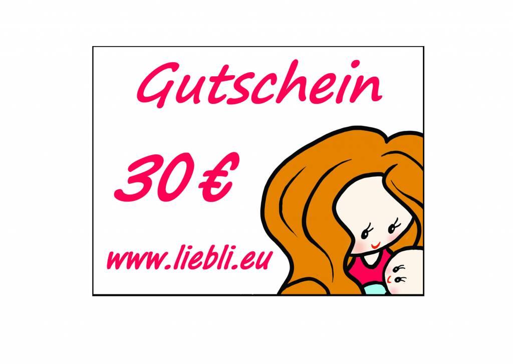 GUTSCHEIN im Wert von 30 Euro