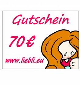 GUTSCHEIN im Wert von 70 Euro