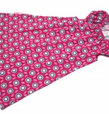 BIO Tunikakleid, retro Blumen auf pink