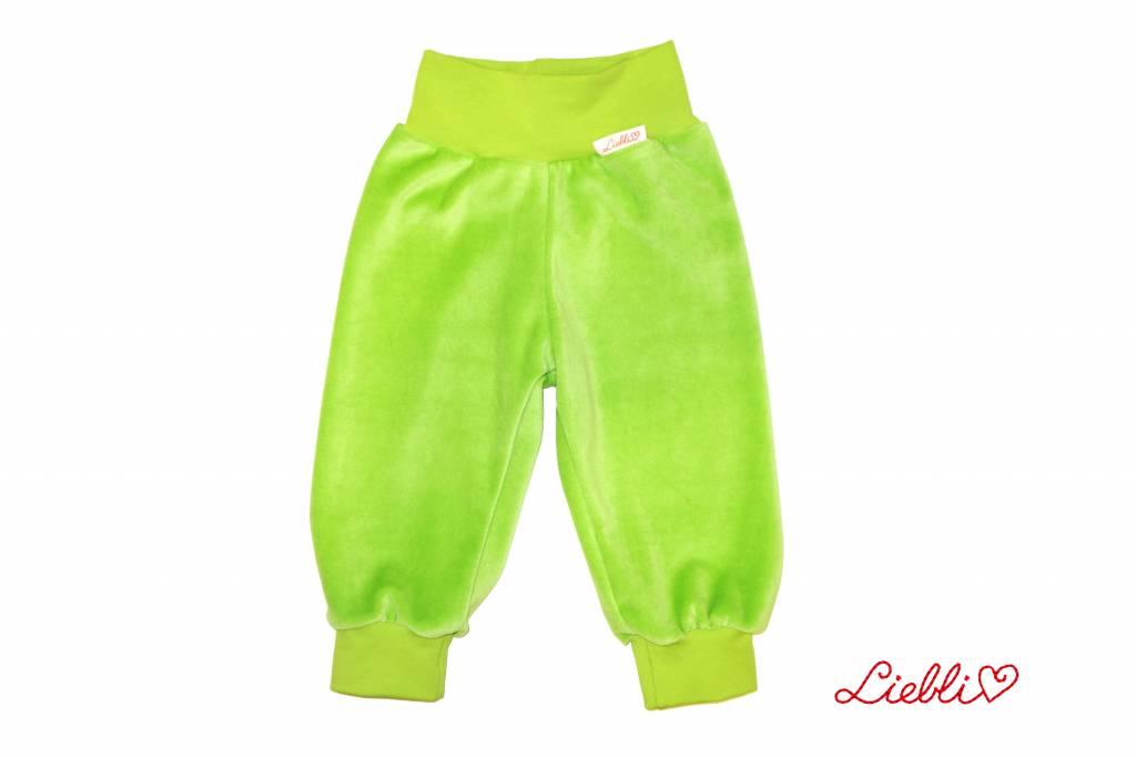 Bunte Kinderhose Nicki, gelbgrün, hellgrün, Gr. 56, 62, 68, 74, 80, 86, 92, 104, 110, 116