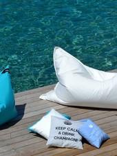 chillisy® Outdoor Loungekissen 'Maxi' DRINK CHAMPAGNE