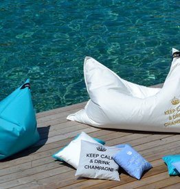 chillisy® Outdoor Lounge cushion 'Maxi' DRINK CHAMPAGNE