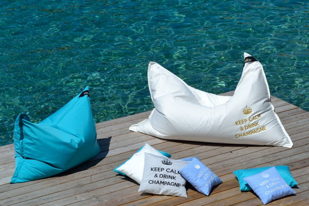 """chillisy® OUTDOOR LOUDSPEAKES MAXI: """"KEEP CALM & DRINK CHAMPAGNE"""" 