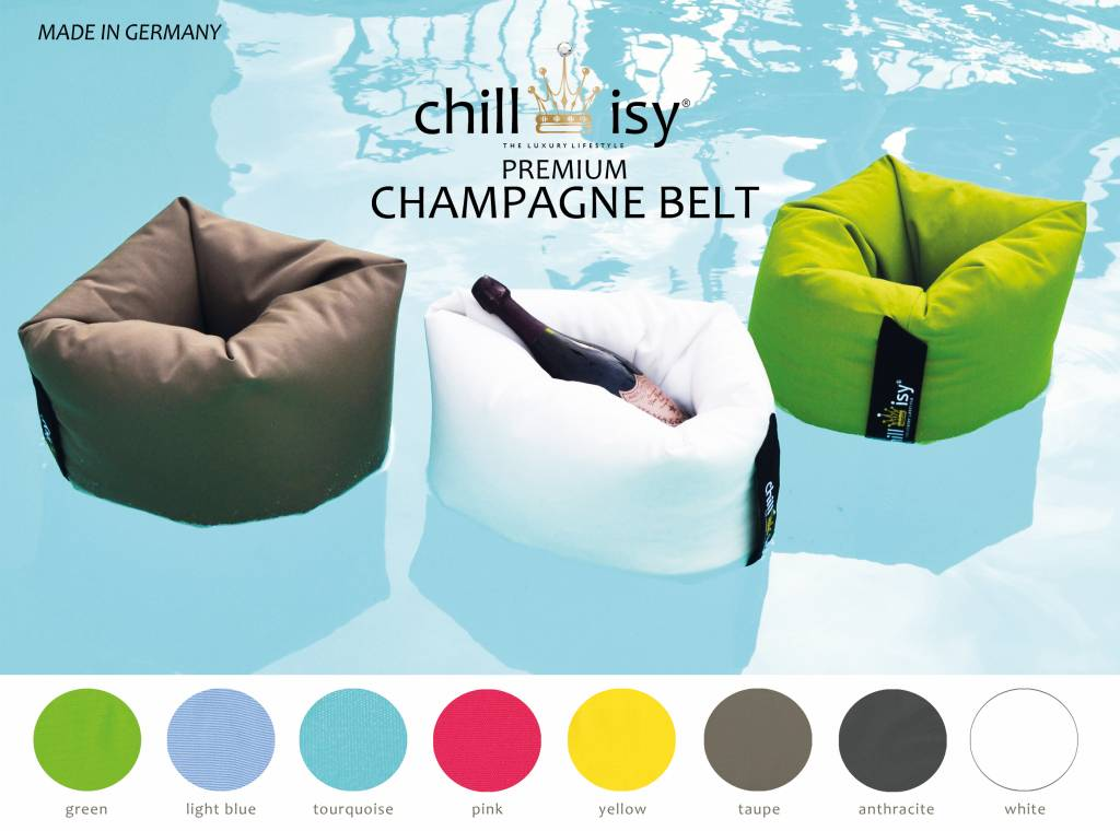 chillisy® CHAMPAGNE BELT II, ​​swimming champagne cooler