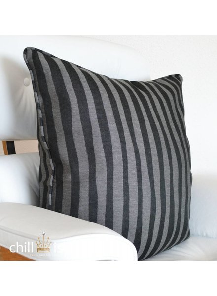 chillisy® Pillow BLACK ZEBRA, black-gray