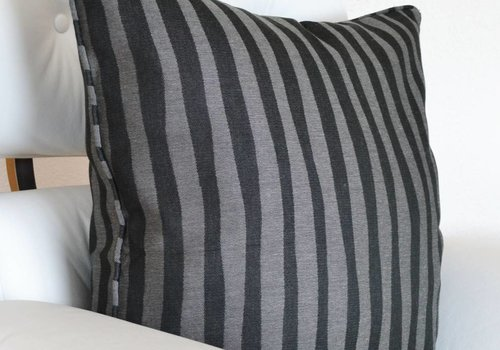chillisy® Pillow BLACK ZEBRA, black-gray