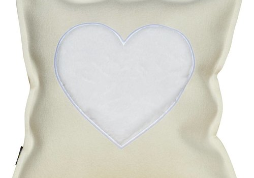"Felt Cushion ""FROM THE HEART"" wollweiß / white"