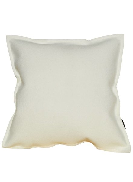 Felt pillow, wool white / white