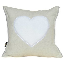 """Tyrolean wool pad """"FROM THE HEART"""""""