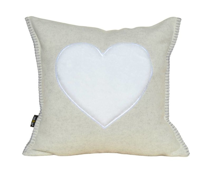 "Tyrolean wool pad ""FROM THE HEART"""