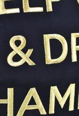 """chillisy® Outdoor Kissen """"Keep Calm & Drink Champagne"""" schwarz-gold"""