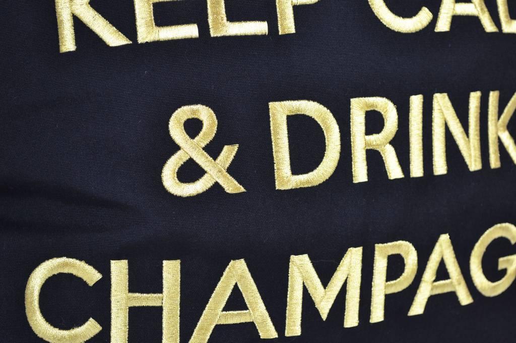 chillisy outdoor kissen keep calm drink champagne online shop. Black Bedroom Furniture Sets. Home Design Ideas