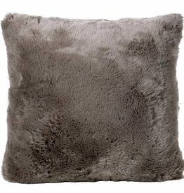 Faux for pillow, taupe 45x45