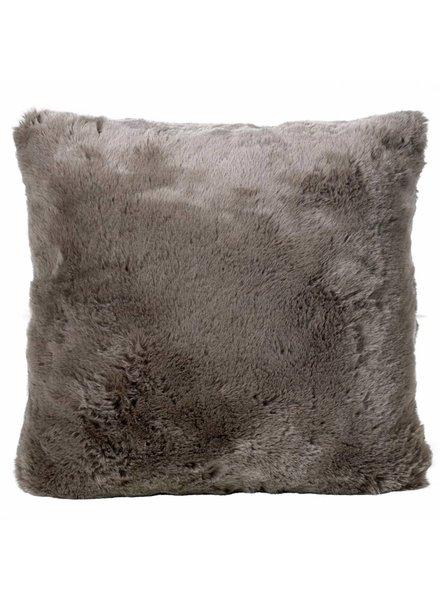 Faux fur pillows, taupe 45x45
