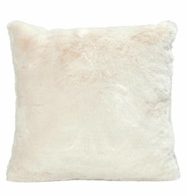 Faux for cushion, ivory 45x45