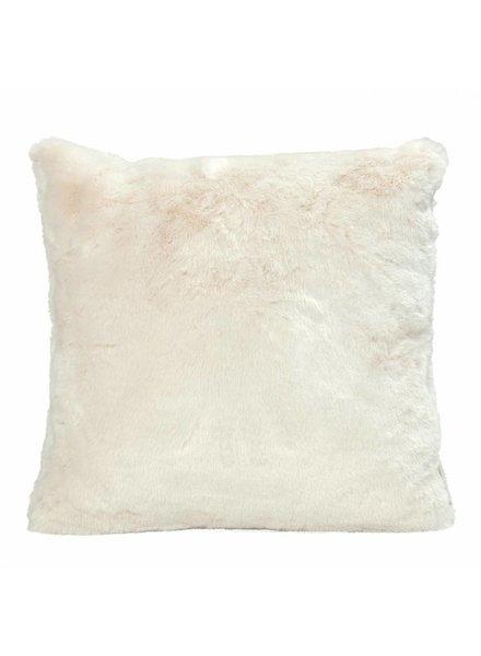 Faux fur cushions, ivory 45x45