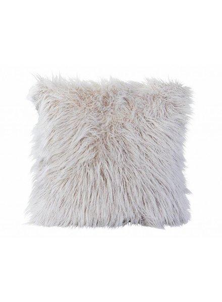 Faux fur pillows, white 45x45