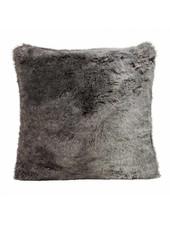 Faux fur Kissen, grau-schwarz 60x60