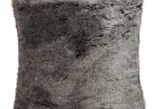 Faux for pillow, gray-black 60x60