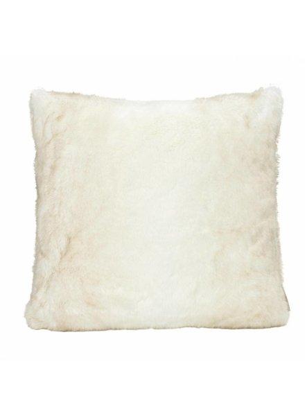 Faux fur pillows, white 60x60