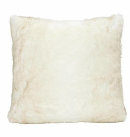 Faux for pillow, white 45x45