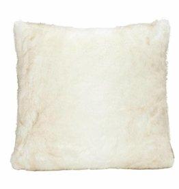 Faux fur Kissen, weiß 45x45
