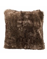 Faux fur pillows brown bear, 45x45