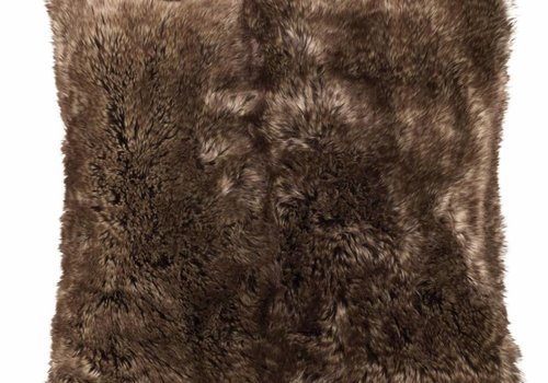 Faux for pillow, brown 45x45
