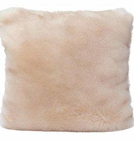 Faux fur Kissen Seal Sand, 45x45