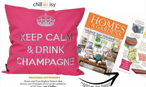 OUTDOOR CUSHION 'Keep Calm & Drink Champagne'