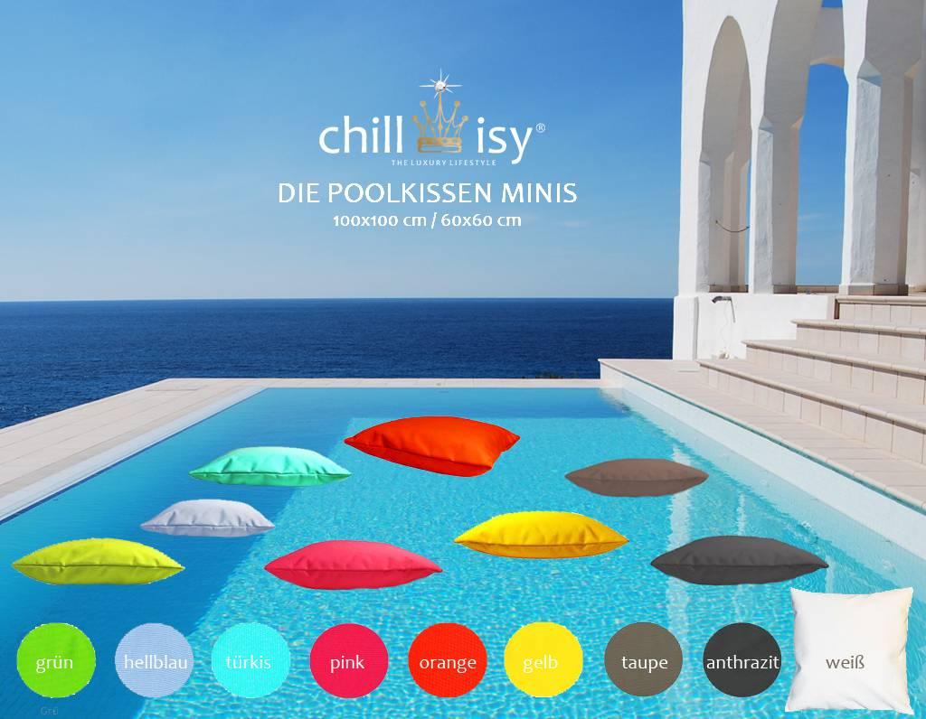 chillisy® chillisy® POOLKISSEN MINI - 100 x 100 cm, 60 x 60 cm