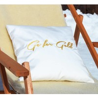 White Cushion GO FOR GOLD Indoor Outdoor