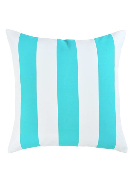 chillisy® Outdoor cushion YACHT, turquoise-white