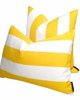 chillisy® Outdoor Kissen YACHT, gelb-weiß