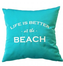 "Outdoor cushion ""LIFE IS BETTER AT THE BEACH"""