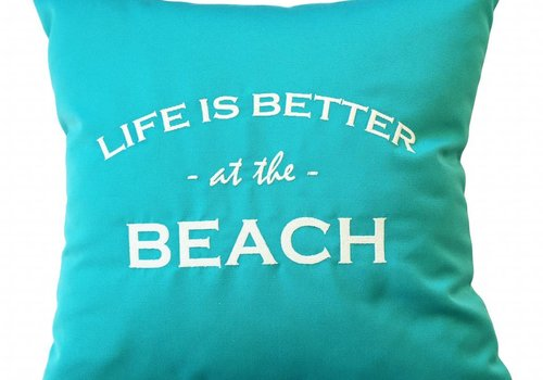 """Outdoor Kissen """"LIFE IS BETTER AT THE BEACH"""""""